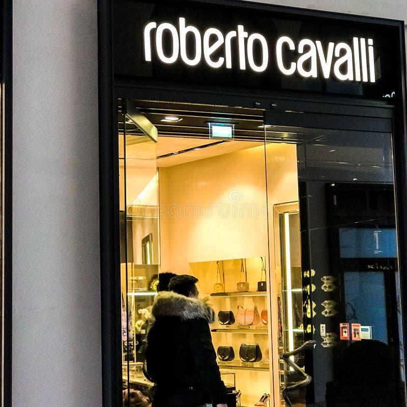 Roberto Cavalli sklep obraz stock