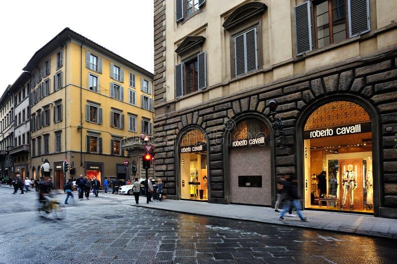 Roberto Cavalli sklep w Florencja obrazy royalty free