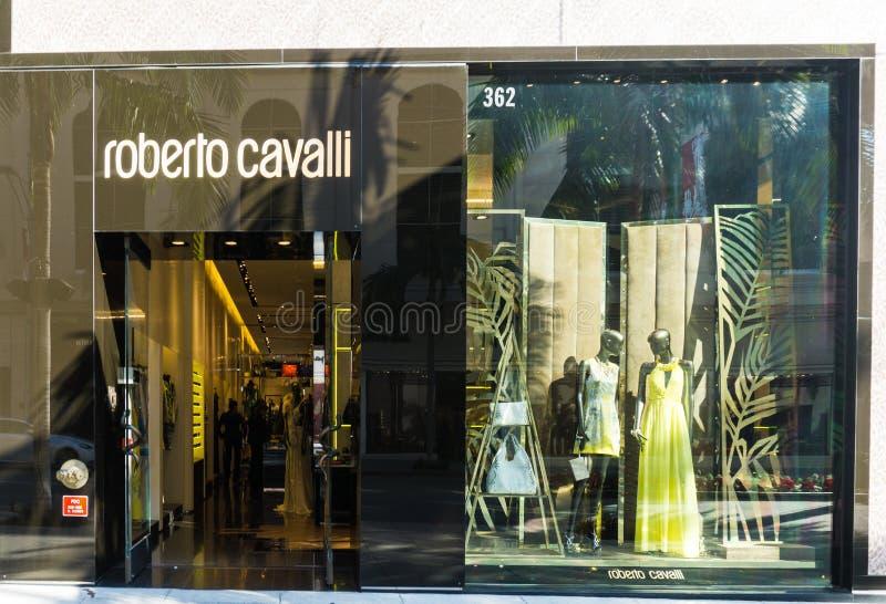 Roberto Cavalli sklepu powierzchowność fotografia stock
