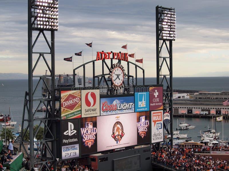 Download Roberto Clemente Award 2010 Displayed Scoreboard Editorial Image - Image: 21104490