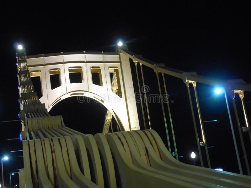 Roberto Clemente Bridge, Pittsburgh royalty free stock photography