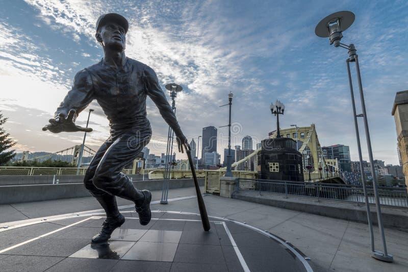 Roberto-clemente Statue lizenzfreie stockfotos