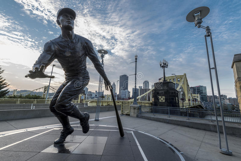 Roberto clemente statue. A statue tribute to Roberto Clemente of Pittsburgh pirate royalty free stock photos