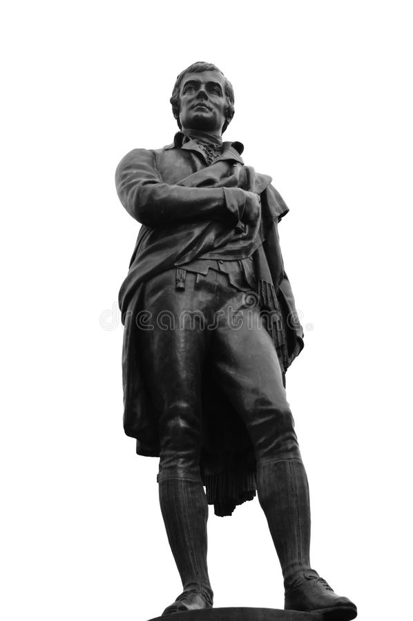 Roberto quema la estatua (1759-1796), Edimburgo fotografía de archivo