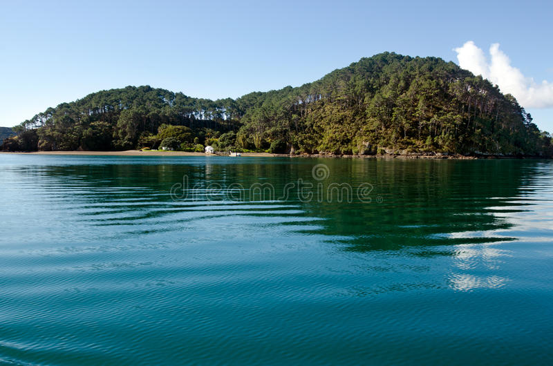 Roberton Island in the Bay of Islands New Zealand. Landscape of Roberton Island in the Bay of Islands, New Zealand royalty free stock images