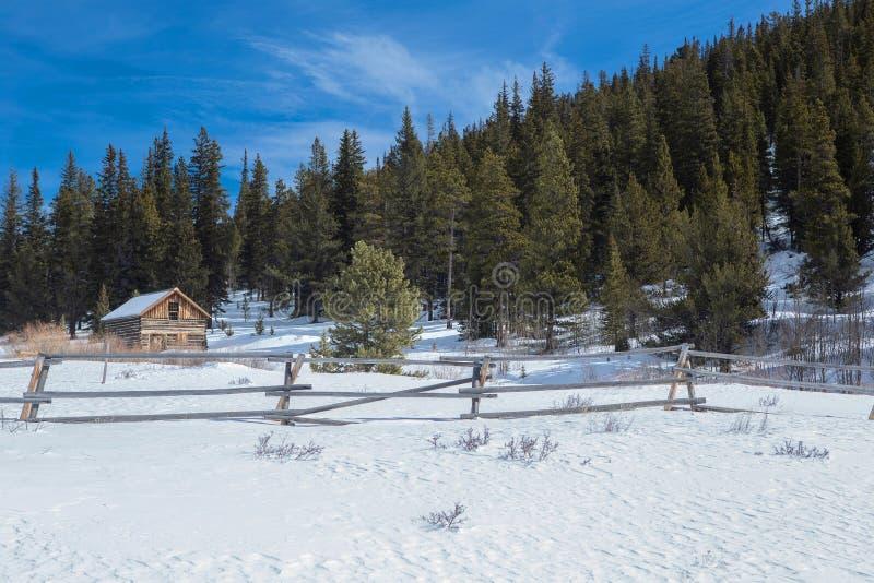 Roberts Cabin en el camino del paso del Boreas, Fairplay, Colorado fotos de archivo