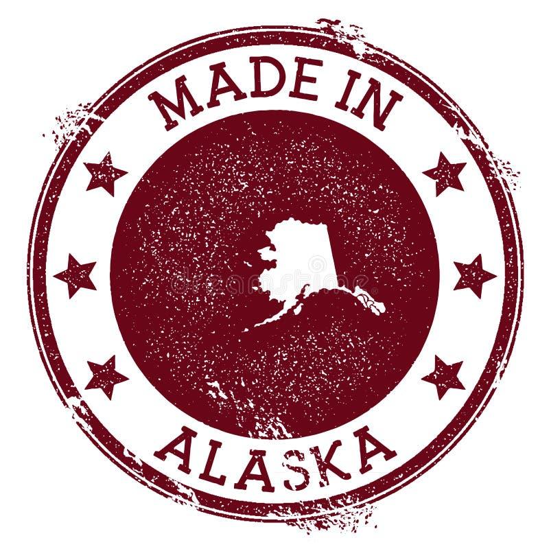 Robić w Alaska znaczku ilustracji