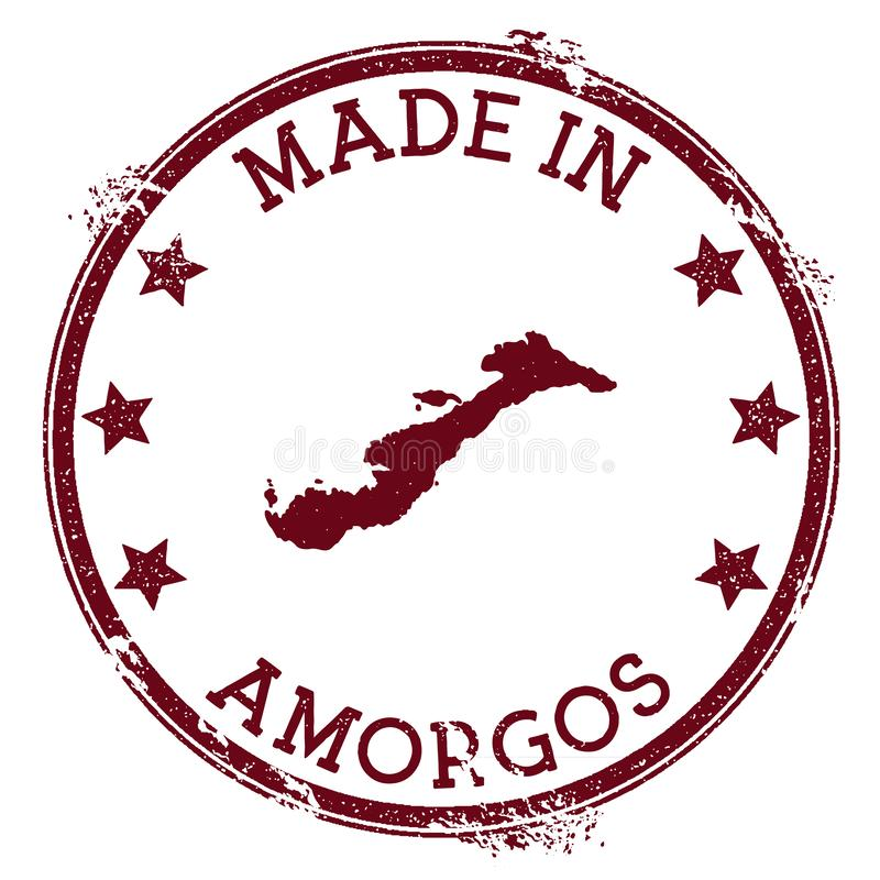 Robić w Amorgos znaczku royalty ilustracja