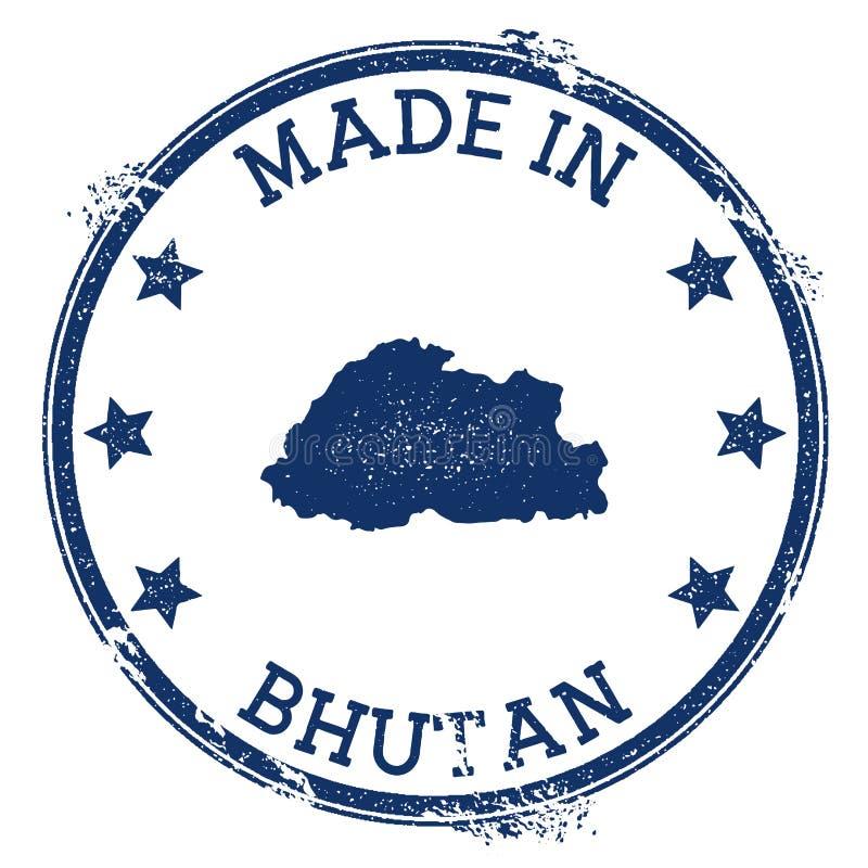 robić w Bhutan znaczku ilustracji