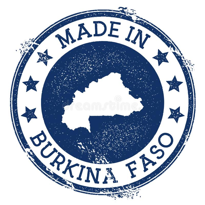robić w Burkina Faso znaczku ilustracji