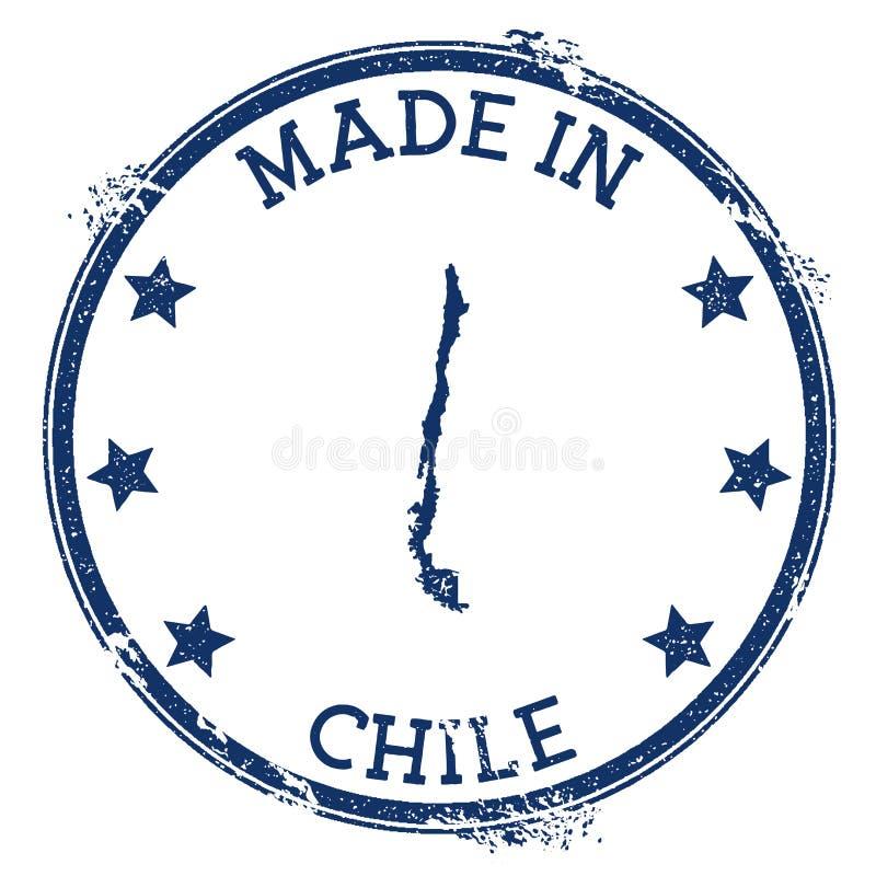 robić w Chile znaczku royalty ilustracja