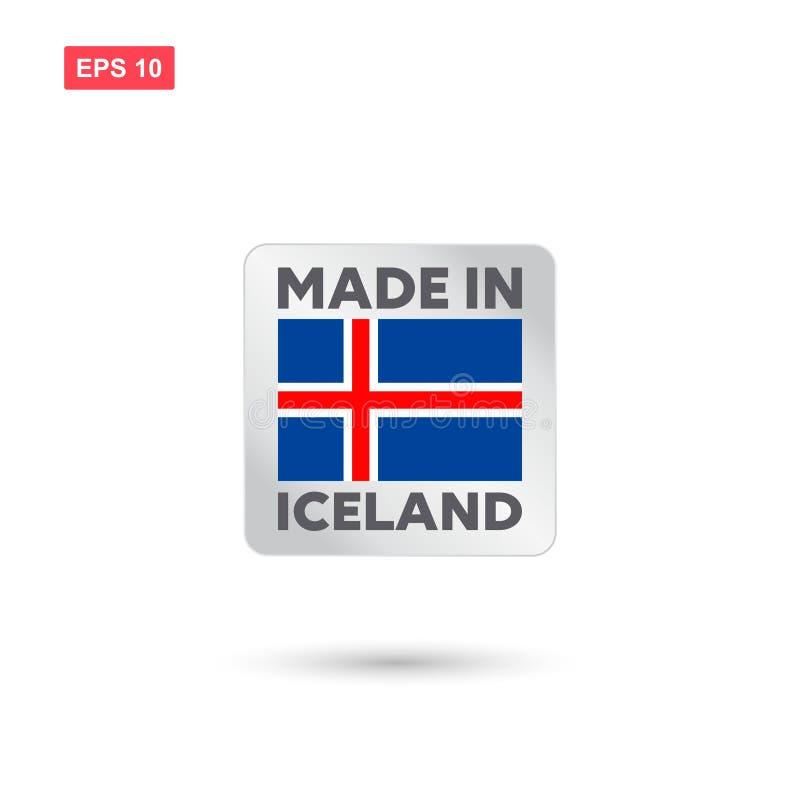 Robić w Iceland wektorze ilustracji