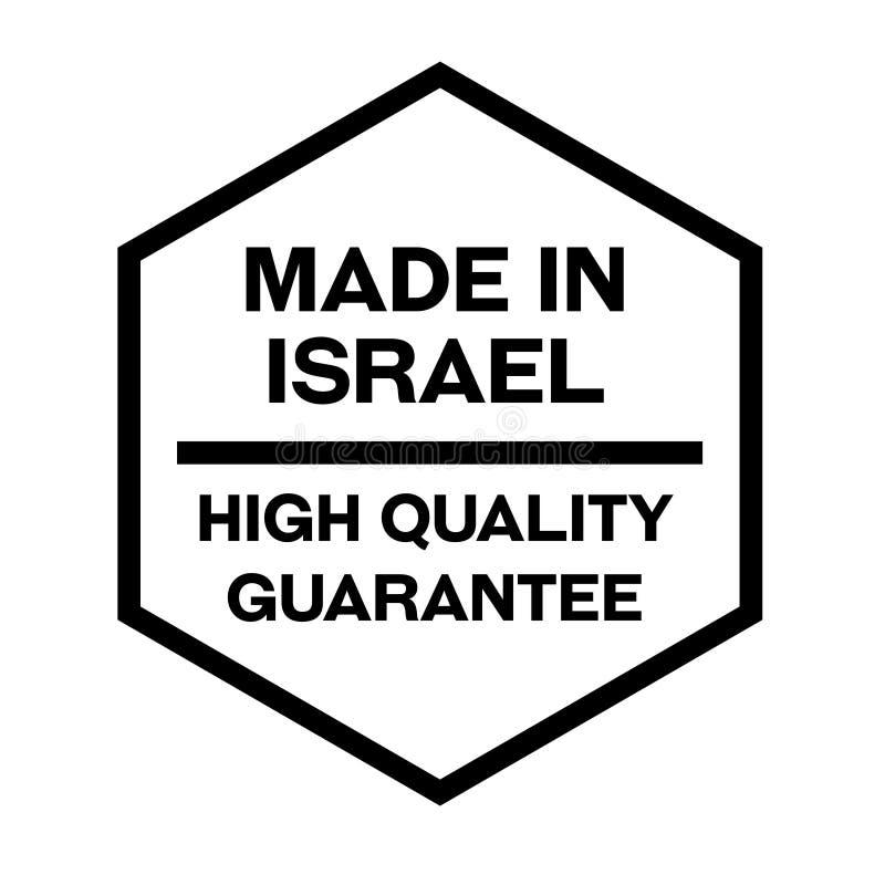 Robić w Izrael etykietce na bielu ilustracji