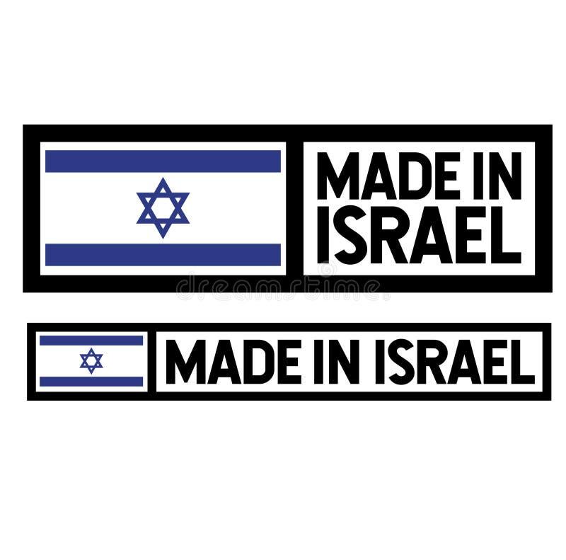 Robić w Izrael etykietce na bielu royalty ilustracja