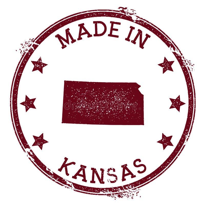 Robić w Kansas znaczku ilustracja wektor