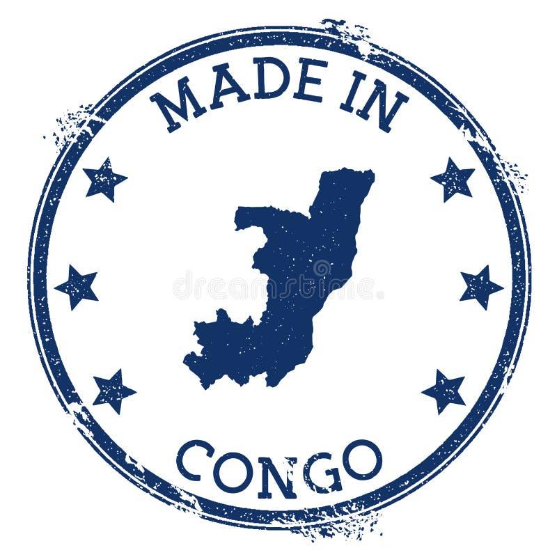 robić w Kongo znaczku ilustracja wektor