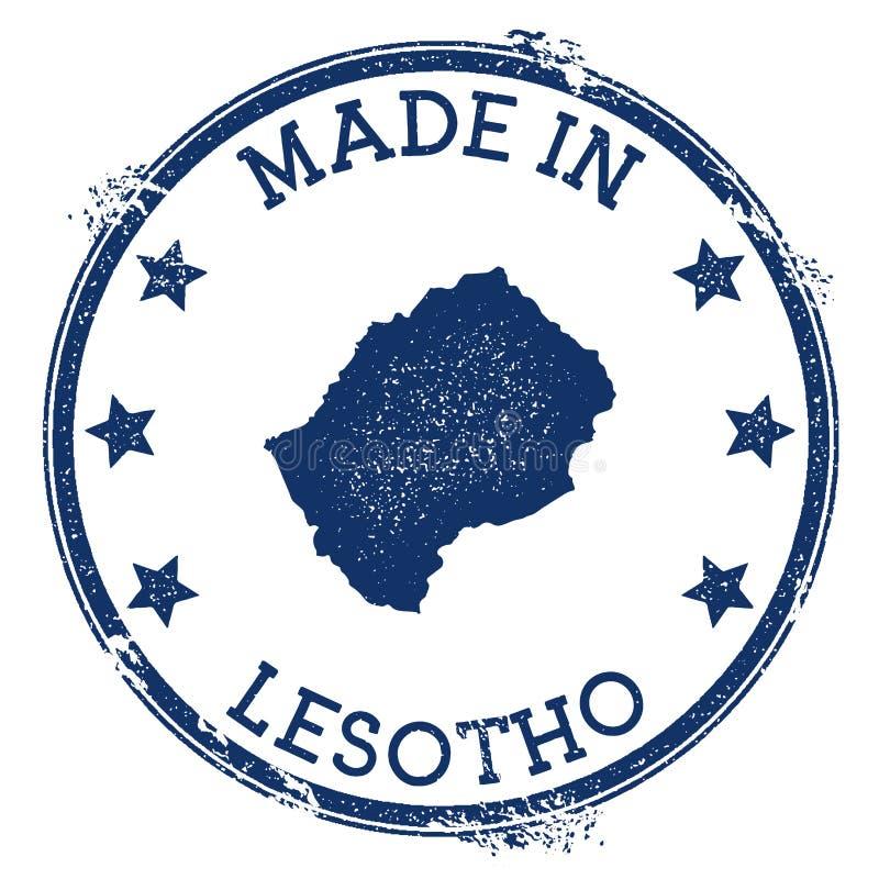 robić w Lesotho znaczku ilustracja wektor