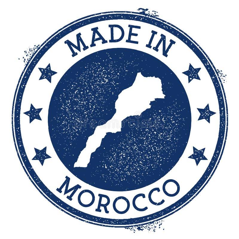 robić w Maroko znaczku ilustracja wektor