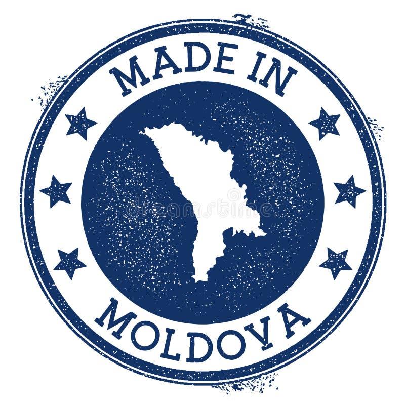 robić w Moldova znaczku ilustracji