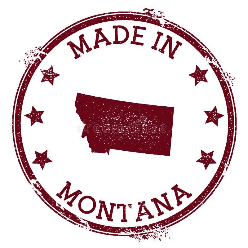 Robić w Montana znaczku ilustracji