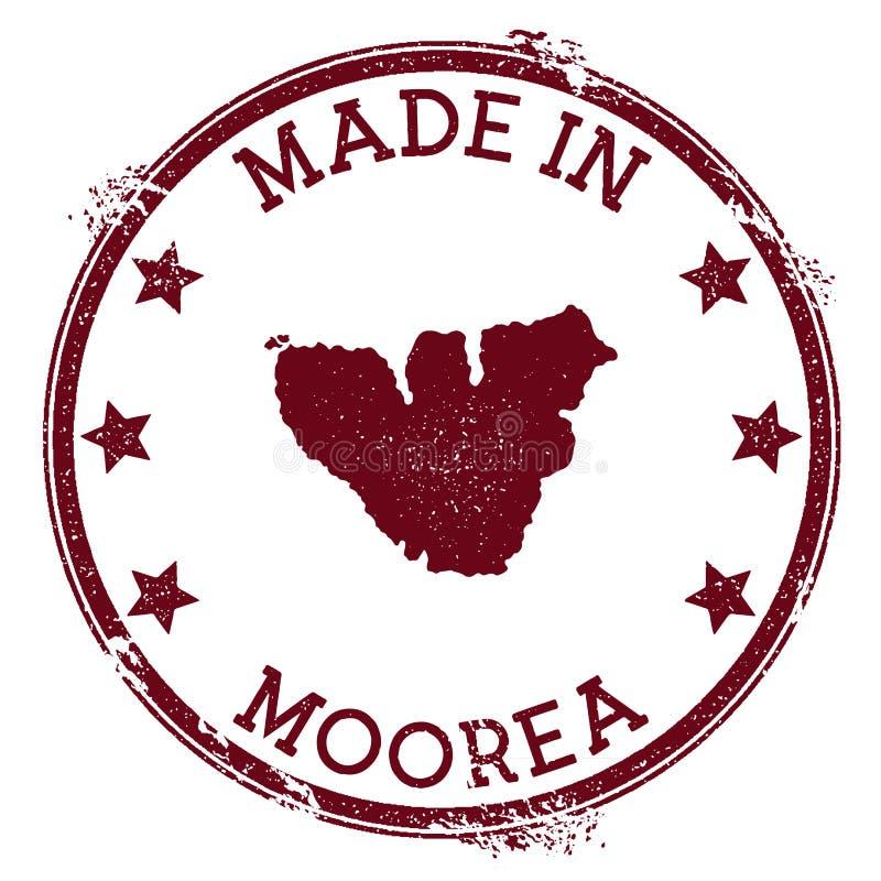 Robić w Moorea znaczku ilustracji