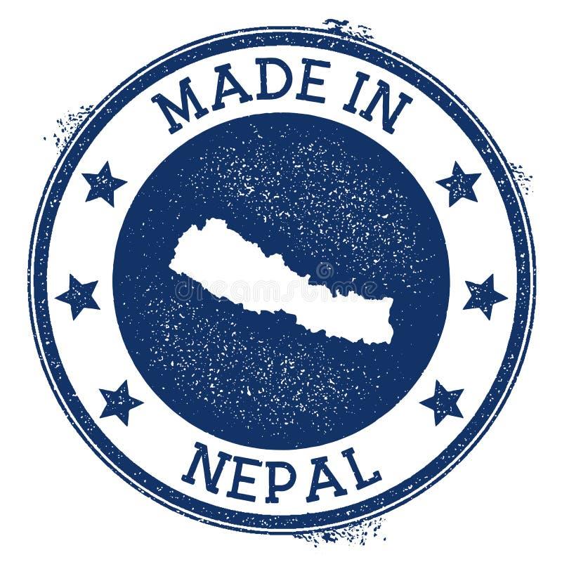 robić w Nepal znaczku royalty ilustracja