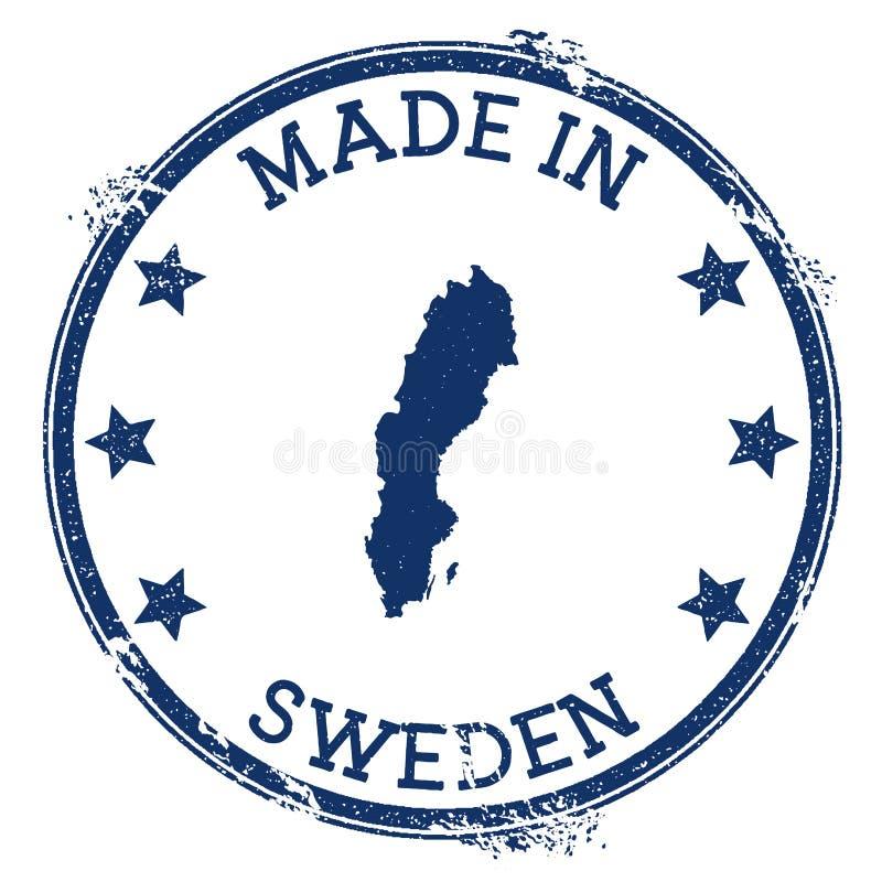 Robić w Szwecja znaczku ilustracja wektor