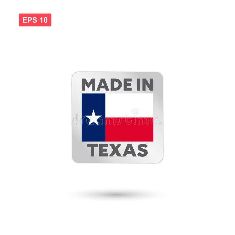 Robić w Texas wektorze ilustracja wektor