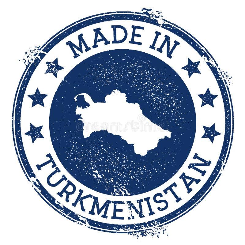 robić w Turkmenistan znaczku royalty ilustracja