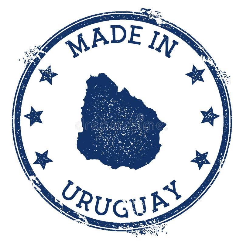 Robić w Urugwaj znaczku royalty ilustracja