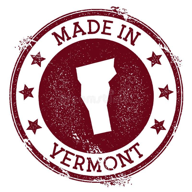 Robić w Vermont znaczku ilustracji