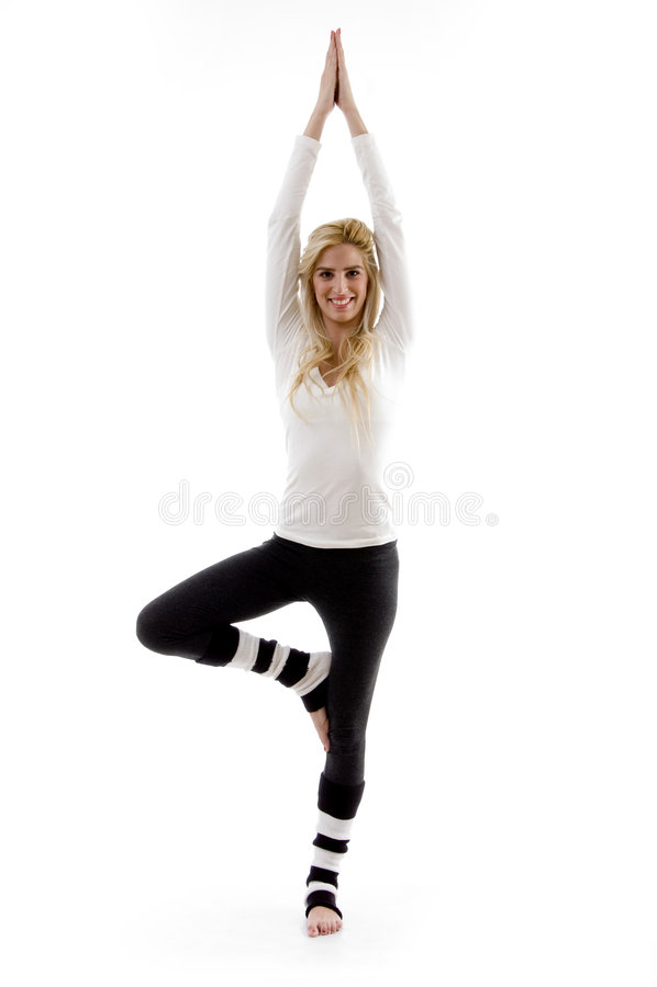 robić ćwiczenia sprawności fizycznej frontowego widok kobiety fotografia royalty free