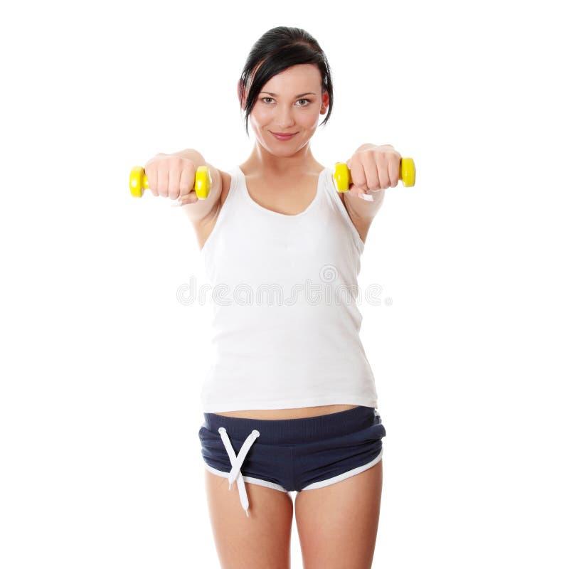 robić ćwiczenia sprawności fizycznej kobiety zdjęcia stock