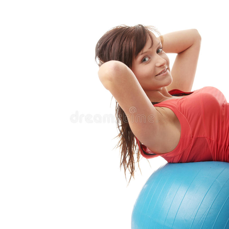 robić ćwiczenia sprawności fizycznej szczęśliwym kobiety potomstwom zdjęcia royalty free