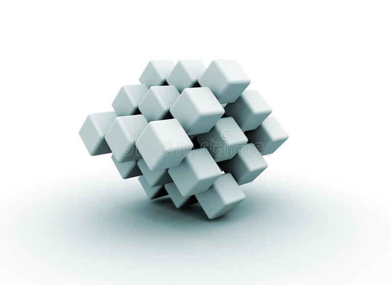 robić abstrakcjonistyczni sześciany kształt ilustracja wektor