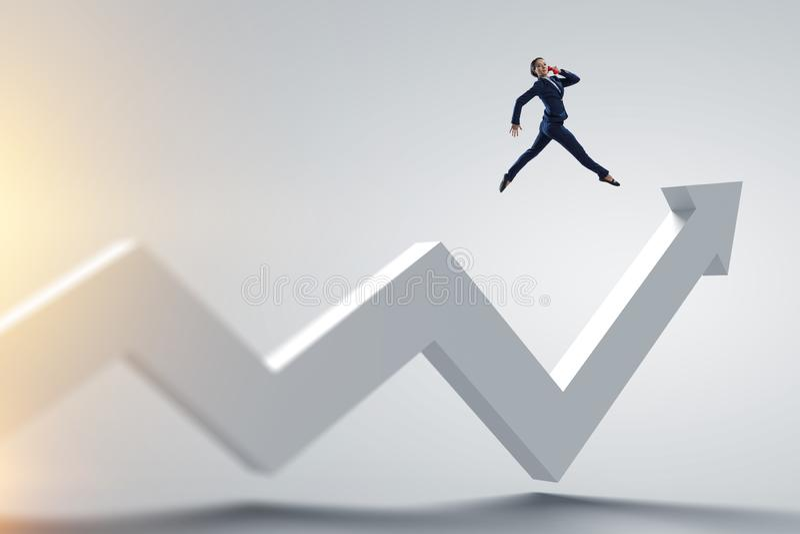 Robić dużemu sukcesu skokowi Mieszani środki ilustracja wektor