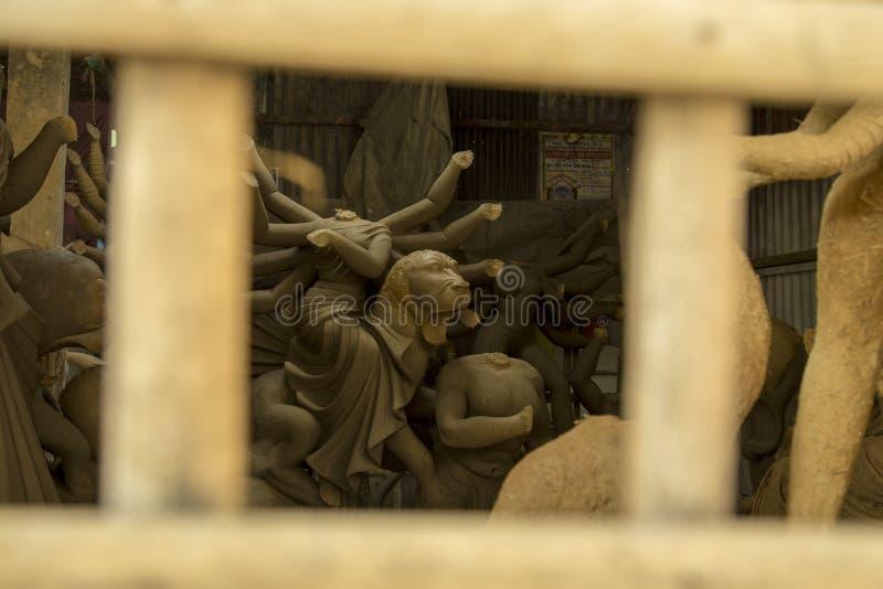 Robić Durga statui Bangladesz obrazy stock
