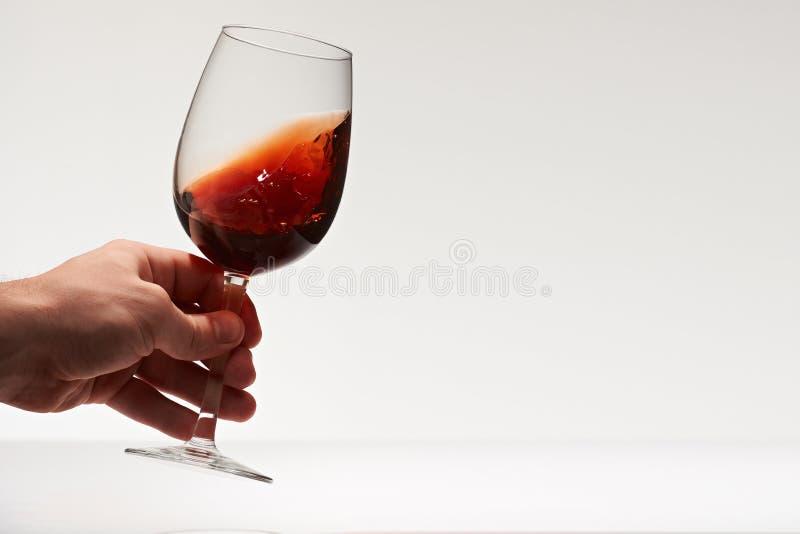 Robić grzance z czerwonym winem zdjęcie stock