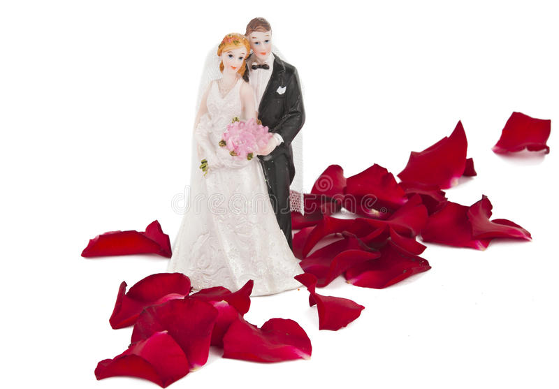 Robić klingeryt ślubna para obraz stock