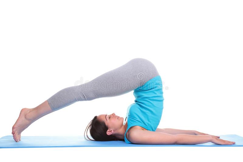 robić kobiety łgarski matowy joga zdjęcia royalty free