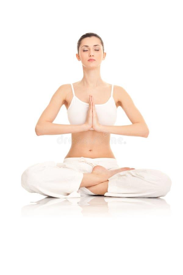 robić kobiety joga zdjęcie royalty free