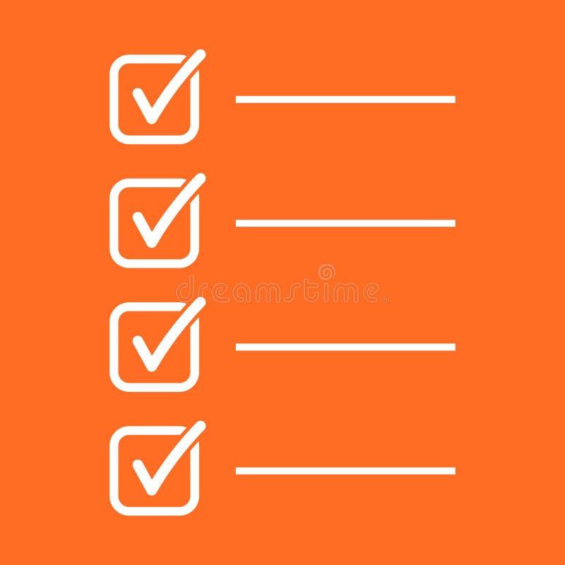 robić listy ikonie Lista kontrolna, zadanie listy wektorowa ilustracja w fla royalty ilustracja