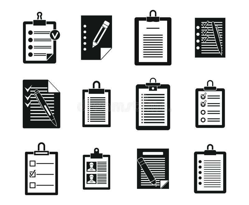Robić listy ikony setowi, prosty styl ilustracji