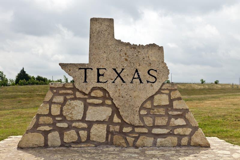 robić markiera drogi kamień Texas fotografia stock