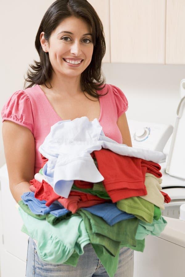 robić pralnianej kobiety zdjęcie stock