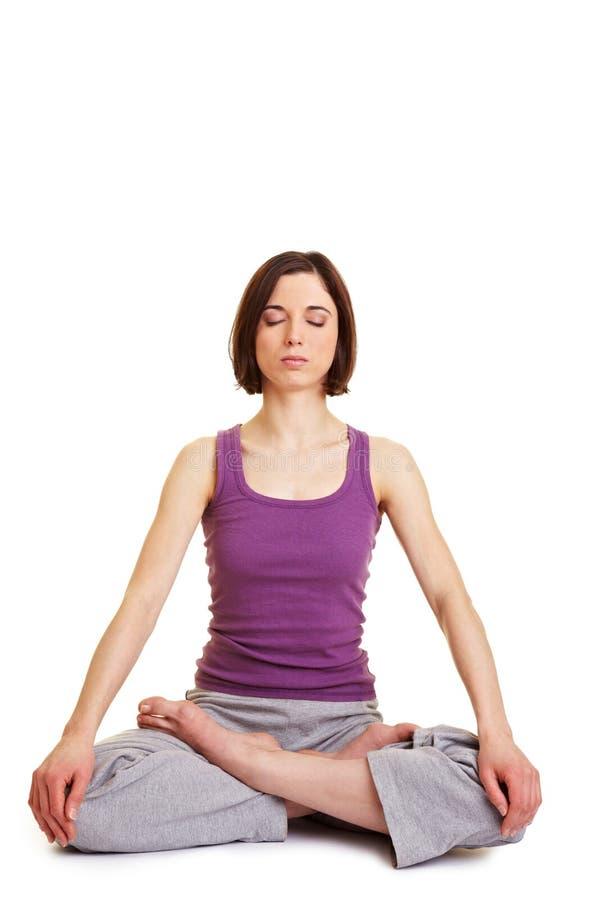 robić siedzenia krawiecki kobiety joga zdjęcie royalty free