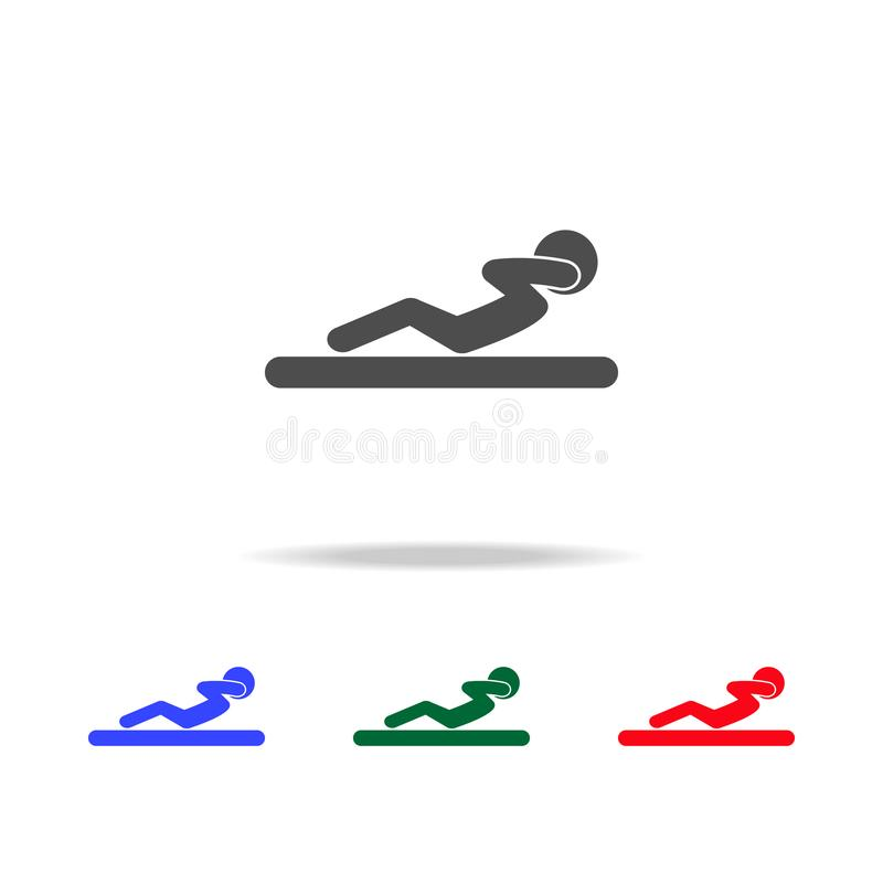Robić siedzi w górę ikon Elementy sporta element w wielo- barwionych ikonach Premii ilości graficznego projekta ikona Prosta ikon royalty ilustracja