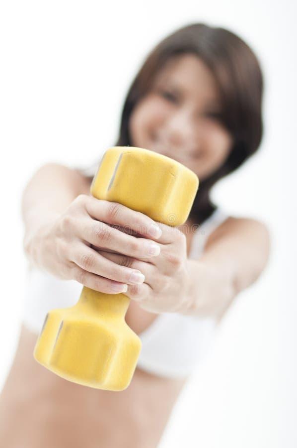 robić sprawności fizycznej kobiety zdjęcie stock