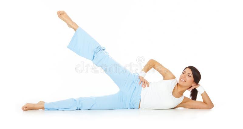 robić sprawności fizycznej kobiety potomstwom obraz stock