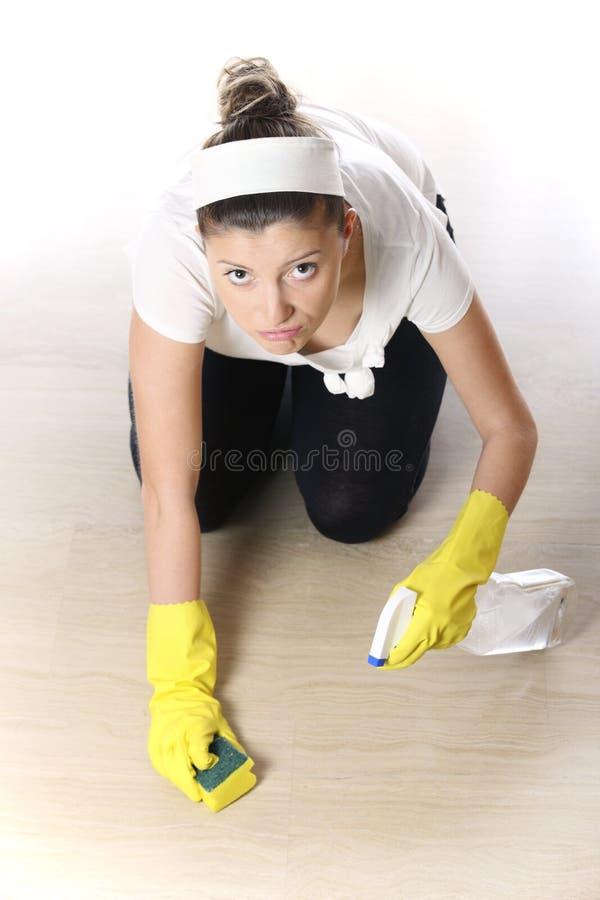 robić sprzątania kobiety potomstwom fotografia stock